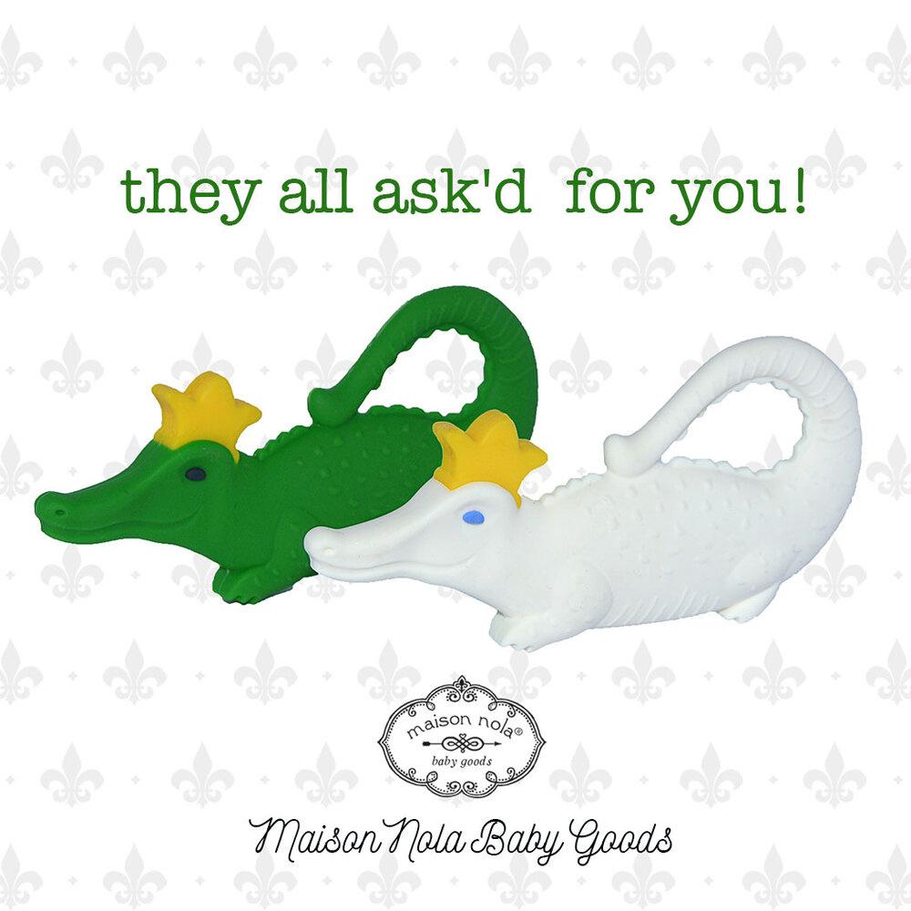 Maison Nola Alligator Silicone Teether