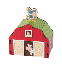 Fat Brain Toys Build It Blueprint Puzzle - Barn (curbside/in store exclusive)