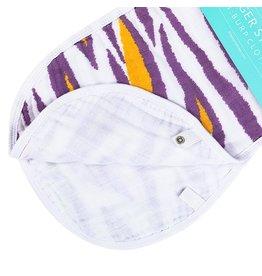 Little Hometown Tiger Stripes Bamboo 2-in-1 Burp Cloth & Bib