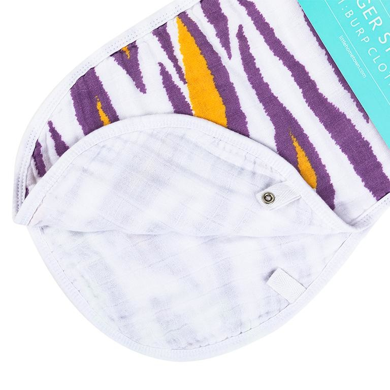 Little Hometown Tiger Stripes Bamboo 2-in-1 Burp Cloth & Bib