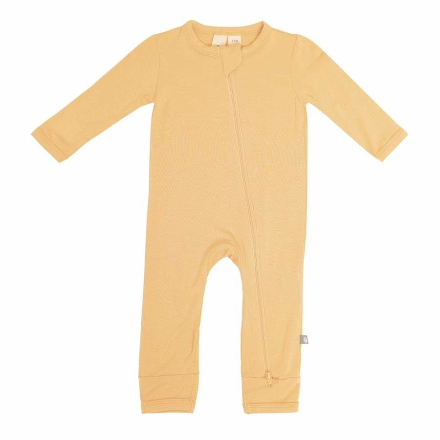 Kyte Baby Kyte Baby Bamboo Zippered Romper - Honey