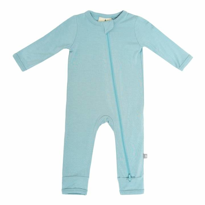 Kyte Baby Kyte Baby Bamboo Zippered Romper - Seafoam