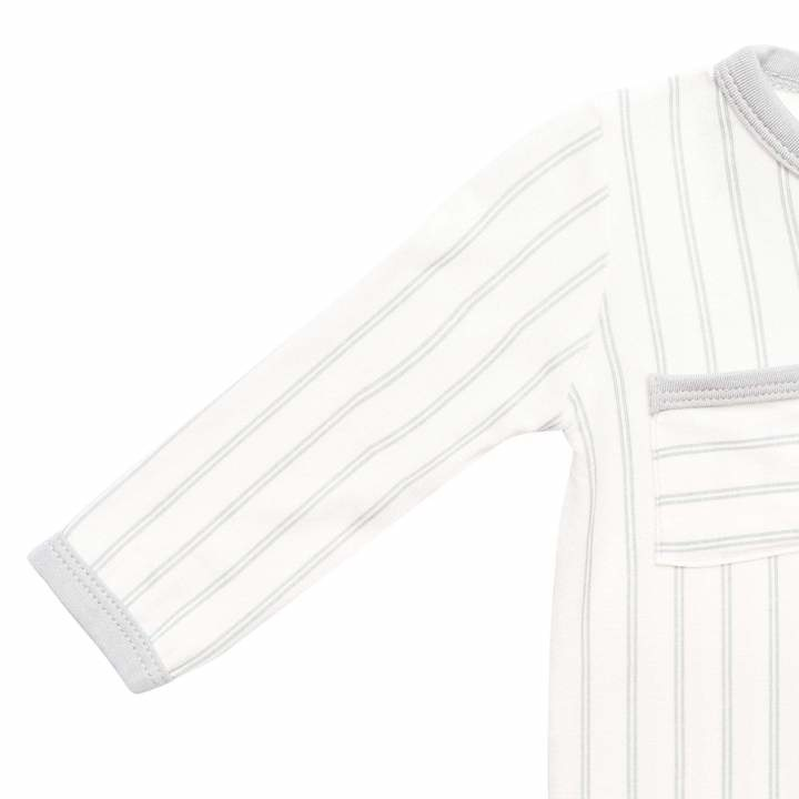 Kyte Baby Kyte Baby Bamboo Zippered Romper - Storm Stripes