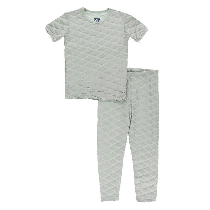 KicKee Pants KicKee Pants Short Sleeve PJ Set - Iridescent Mermaid Scales
