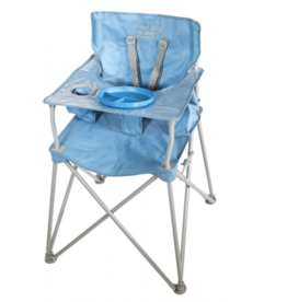 ciao! baby ciao! baby Portable Highchair with Matching Plate - Slate Blue (curbside pickup only)