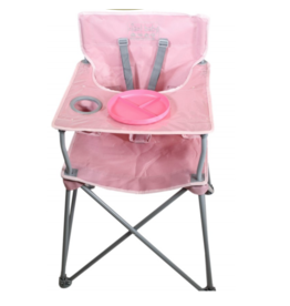 ciao! baby ciao! baby Portable Highchair with Matching Plate - Blush Pink
