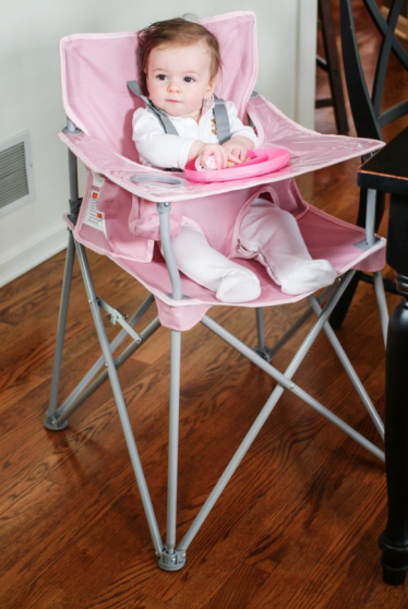 ciao! baby ciao! baby Portable Highchair with Matching Plate - Blush Pink (curbside pickup only)
