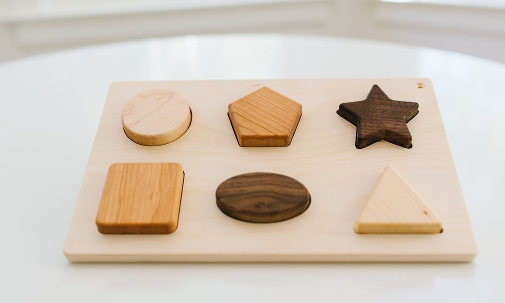 Bannor Toys Chunky Shape Wooden Puzzle - Made in USA