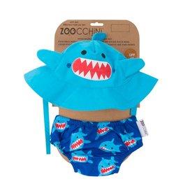 Zoochini Baby Swim Diaper & Sun Hat Set UPF50 - Shark
