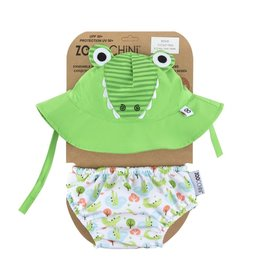 Zoochini Baby Swim Diaper & Sun Hat Set UPF50 - Alligator