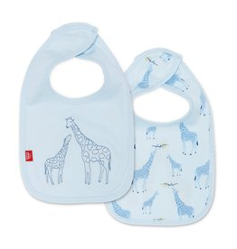 Magnetic Me Magnetic Me Organic Reversible Bib - Blue Giraffe