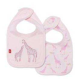 Magnetic Me Magnetic Me Organic Reversible Bib - Pink Giraffe
