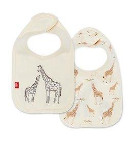 Magnetic Me Magnetic Me Organic Reversible Bib - Cream Giraffe