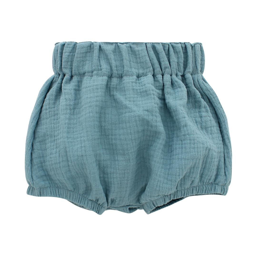 Emerson and Friends Gauze Baby Bloomers - Dusty Blue