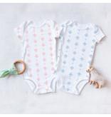 Nola Tawk Fleur de Lis Organic Cotton Onesie - Baby Pink