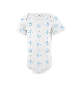 Nola Tawk Fleur de Lis Organic Cotton Onesie - Baby Blue