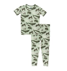 KicKee Pants KicKee Pants Short Sleeve PJ Set - Aloe Endangered Animals