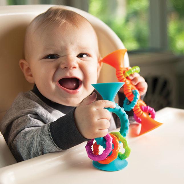 Fat Brain Toys PipSquigz Loops Educational Toy Set Sensory Orange