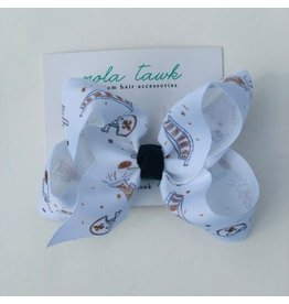 Nola Tawk Saints Black & Gold Hair Bow- Medium