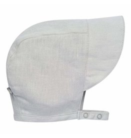 Kyte Baby Linen Sun Bonnet - Light Gray