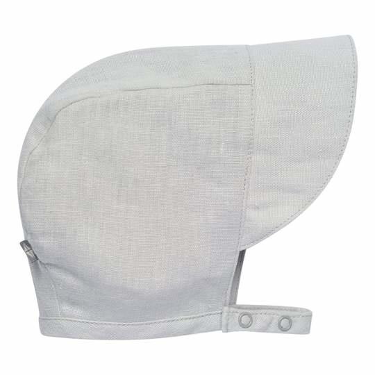 Kyte Baby Linen Sun Bonnet - Light Gray