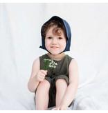Kyte Baby Linen Sun Bonnet - Navy