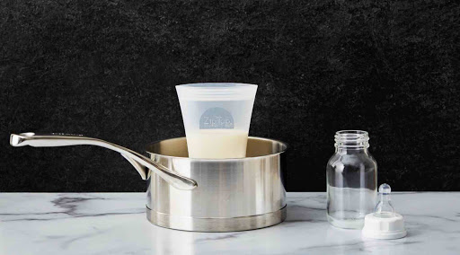 Zip Top Silicone Breast Milk Storage Bag (2-pack)