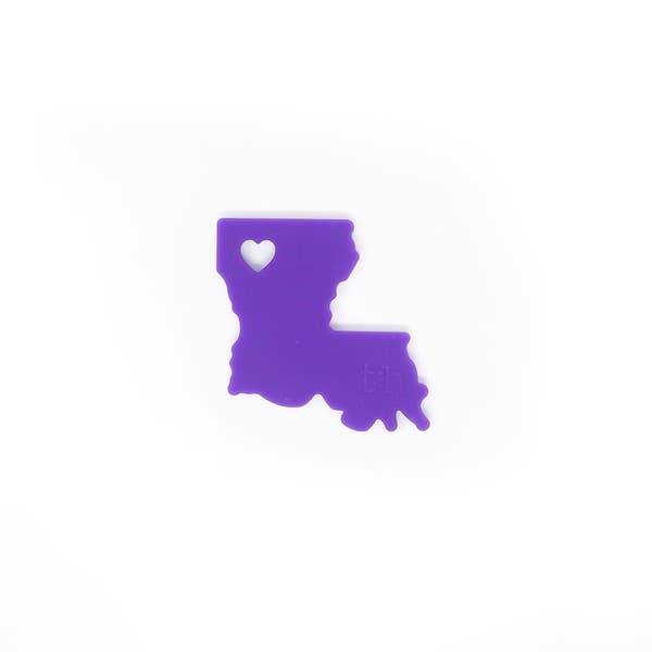Three Hearts Louisiana Silicone Teether