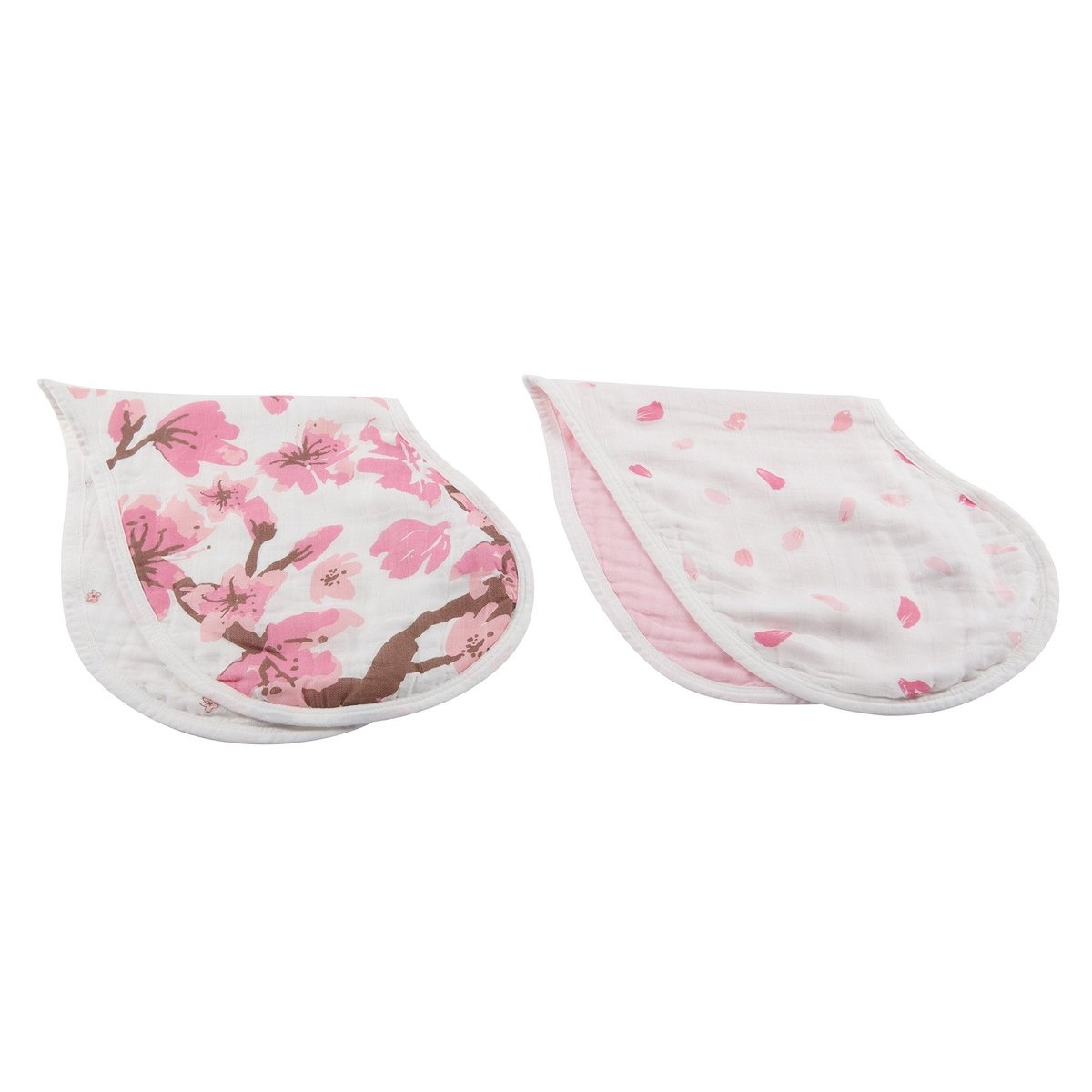 Newcastle Classics Heart 2-in-1 Muslin Burp Cloth Bibs (2-pack)