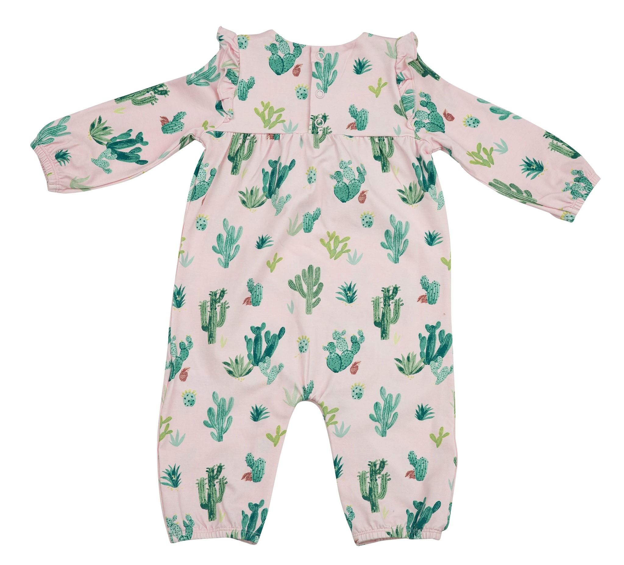 Angel Dear Cactus Ruffle Sleeve Romper - Pink