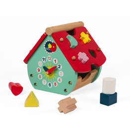 Janod Toys Janod Baby Forest House Shape Sorter