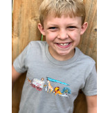 Two Sprouts Zoo Toddler Tshirt - Heather Stone