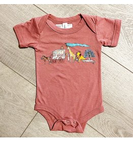 Two Sprouts Zoo Onesie - Mauve
