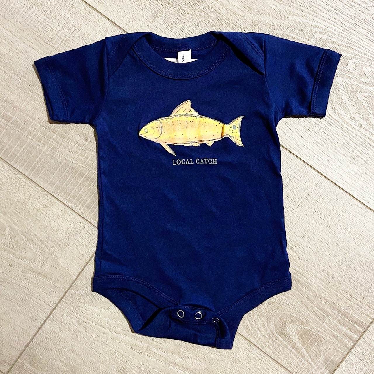 Two Sprouts Local Catch Onesie - Navy