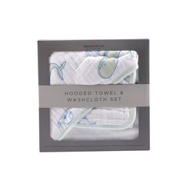 Newcastle Classics Ocean Friends Hooded Towel and Washcloth Set