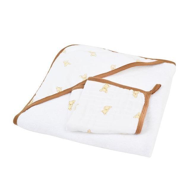 Newcastle Classics Teddy Bear Hooded Towel and Washcloth Set