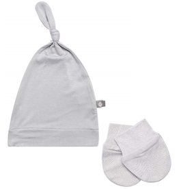 Kyte Baby Kyte Baby Bamboo Knotted Cap and Scratch Mitt Bundle - Storm