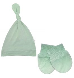 Kyte Baby Kyte Baby Bamboo Knotted Cap and Scratch Mitt Bundle - Matcha