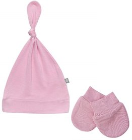 Kyte Baby Kyte Baby Bamboo Knotted Cap and Scratch Mitt Bundle - Dusk