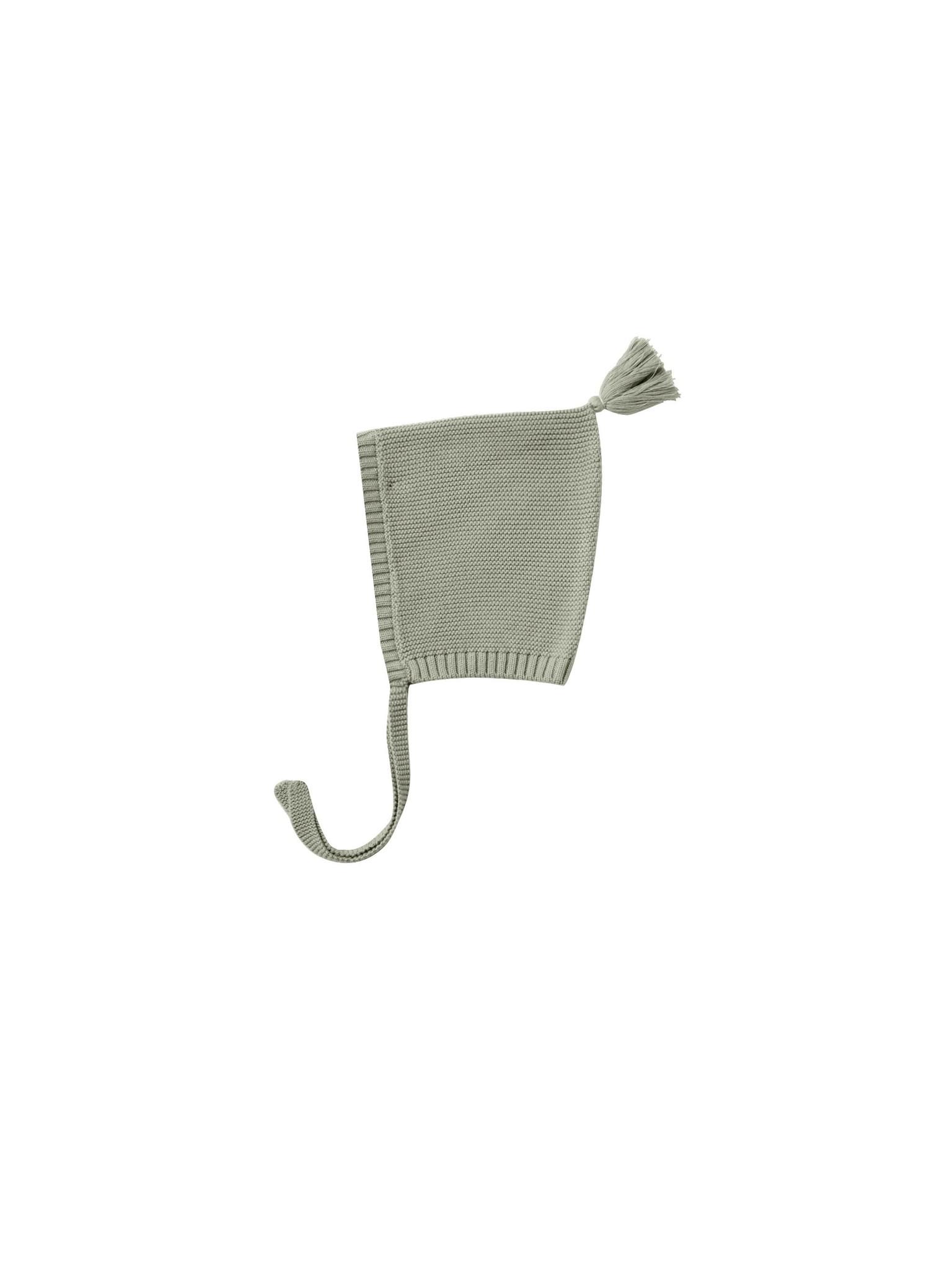 Quincy Mae Knit Pixie Bonnet - organic sweater knit (Sage)