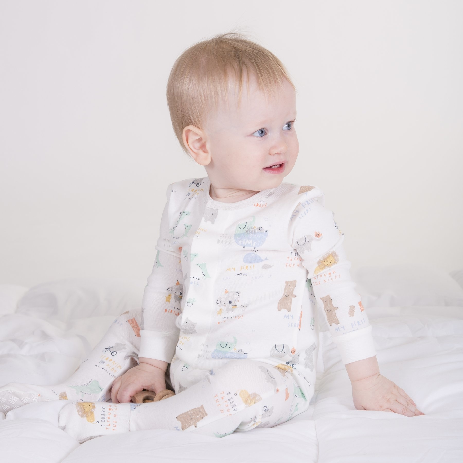 Magnetic Me Magnetic Me Organic Cotton Footie - My Year of Firsts