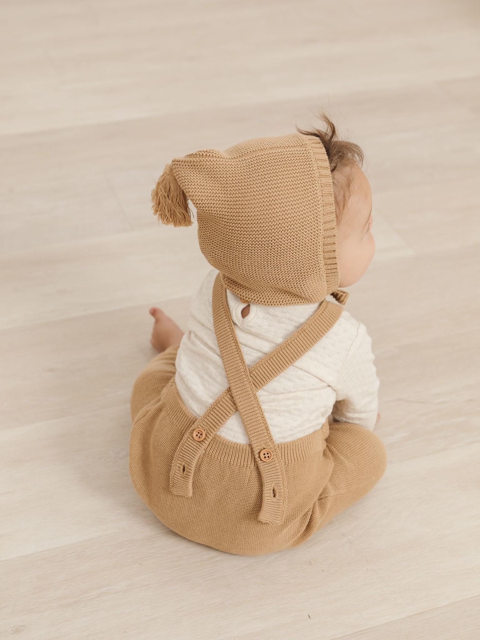 Quincy Mae Knit Pixie Bonnet - organic sweater knit (Honey)