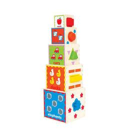 Hape Pyramid of Play Wooden Nesting Blocks