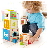 Hape Pyramid of Play Wooden Nesting Blocks