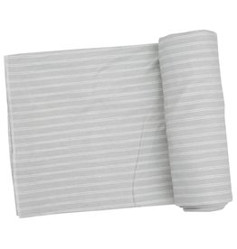 Angel Dear Grey Stripe Hippo Swaddle Blanket