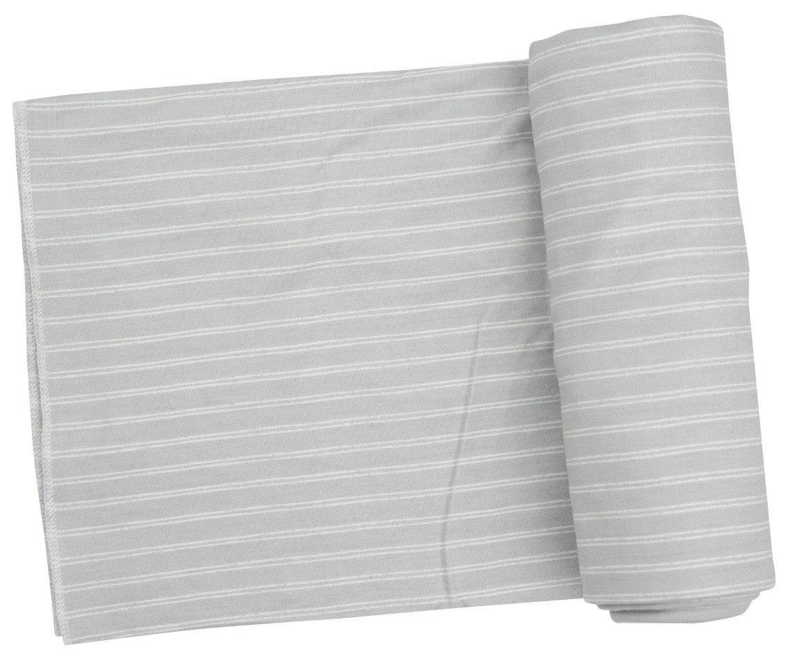 Angel Dear Grey Stripe Hippo Swaddle Blanket