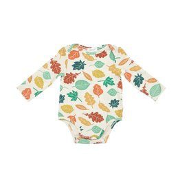 Angel Dear Fall Leaves Lap Shoulder Onesie