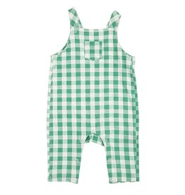 Angel Dear Green Gingham Pocket Coveralls