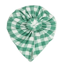 Angel Dear Green Gingham Norma Headwrap