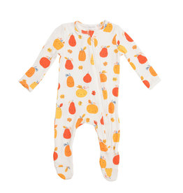 Angel Dear Pumpkin Patch Zipper Footie